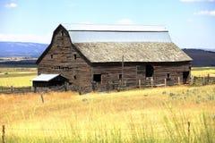Altes Bretterbude verlassen, Staat Washington. Stockfoto