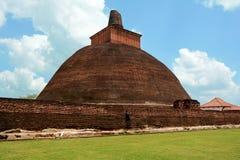 Altes bricky Jetavaranama-dagoba gelegen in den Ruinen von Jetavana Lizenzfreies Stockfoto