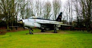 Altes britisches Kampfflugzeug, Bomber Stockbild