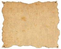 Altes Brown-Papier mit Nägeln stock abbildung