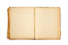 Altes Buch auf dem weißen Hintergrund Stockfoto