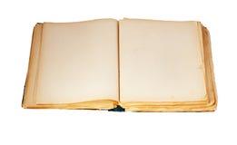 Altes Buch auf dem weißen Hintergrund Stockbilder