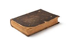 Altes Buch auf weißem Hintergrund Stockfotografie