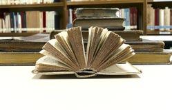 Altes Buch geöffnet Lizenzfreie Stockbilder