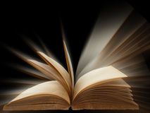 Altes Buch geöffnet Lizenzfreies Stockbild