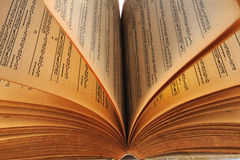 Altes Buch Kalender 125 Jahr Lizenzfreie Stockbilder