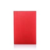 Altes Buch mit leerem Blinddeckel Studioschuß getrennt auf Weiß Stockbilder