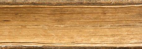 Altes Buch-Seiten schließen oben Lizenzfreie Stockfotos