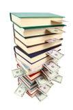Altes Buch und Geld Lizenzfreie Stockfotografie