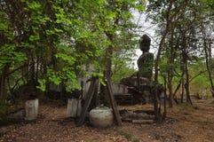 Altes altes Buddha-heiliger Stätte stockbilder