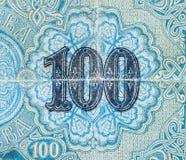 Altes bulgarisches Geld 100-Lev-Banknote Lizenzfreies Stockbild