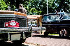 Altes Cadillac-Eldorado auf jährlicher Oldtimerautoshow Stockbild