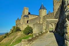 Altes Carcassonne zitieren Westwände Stockfoto