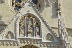 Altes catedral ausführlich Zagreb Stockbild