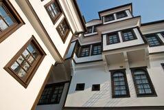 Alte Häuser in Ohrid, Mazedonien Stockfotos