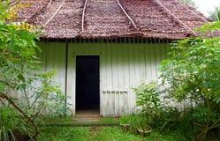 Altes chinesisches Bauernhofhaus in den Tropen Stockfoto