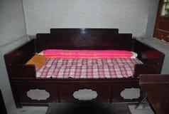 Altes chinesisches Bett stockbild