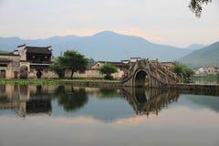 Altes chinesisches Dorf in der Südchina, hongcun Stockfotos