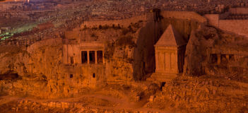 Altes Denkmal in Jerusalem Lizenzfreie Stockfotografie