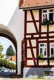 Altes deutsches Rahmenhaus Stockfotografie