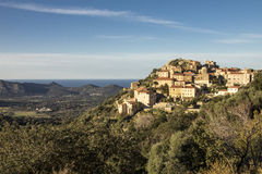 Altes Dorf in Korsika Lizenzfreies Stockbild