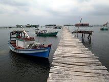 Altes Dorf mit Pier auf phu quoc - Vietnam Asien lizenzfreies stockbild