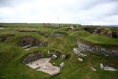 Altes Dorf von skara Brae Lizenzfreie Stockbilder