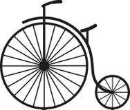 Altes einfaches Fahrrad lizenzfreie stockbilder