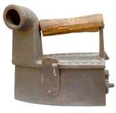 Altes Eisen getrennt auf weißem Hintergrund Stockfotos