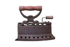 Altes Eisen oder Holzkohleneisen lokalisiert mit Beschneidungspfad stockbild