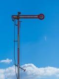Altes Eisenbahn-Signal Stockfotos