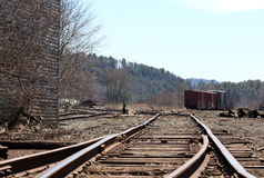 Altes Eisenbahn-Yard Stockbild