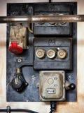 Altes elektrisches Panel Stockfotos