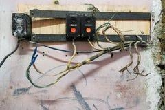 Altes elektrisches Schild Lizenzfreie Stockbilder