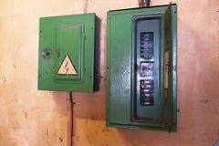 Altes elektrisches Schild Stockfotografie