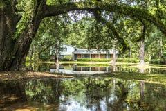Altes Erbhölzerne Landhäuser in Apalachicola, USA Lizenzfreie Stockbilder