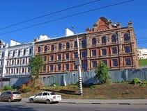 Altes Errichten hinunter die Straße Arbeitskraft Gorodok, 20 samara Lizenzfreies Stockfoto