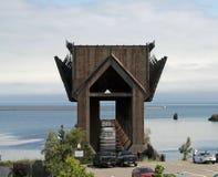 Altes ` Erz-Dock ` gelegen in Marquette, Michigan stockbild