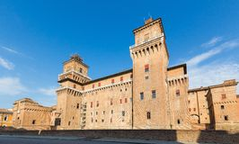 Altes Estense-Schloss in Ferrara, Italien Stockbild