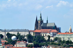 Altes Europa, Fluss Vltava, Reisenfoto Stockfoto