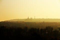 Altes Europa, Fluss Vltava, Reisenfoto Stockbild