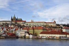 Altes Europa, Fluss Vltava, Reisenfoto Lizenzfreie Stockbilder