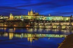 Altes Europa, Fluss Vltava, Reisenfoto Stockfotografie