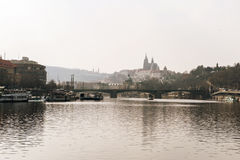 Altes Europa, Fluss Vltava, Reisenfoto Stockfotos