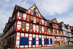 Altes Fachwerk Haus in Wolfenbuttel. Stockfotografie