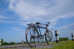 Altes Fahrrad, altes Fahrrad in Thailand Lizenzfreies Stockbild
