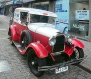 Altes Fahrzeug benutzt für das Transportieren des Fleisches Stockfotografie