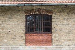 Altes Fenster der Weinlese Stockfoto