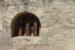 Altes Fenster im Alamo Stockfotografie