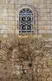 Altes Fenster im armenischen Viertel jerusalem Stockbild
